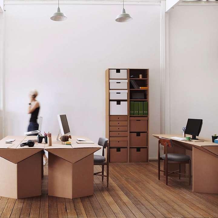 karton01 - Decoración Eco Chic: Muebles hechos de cartón