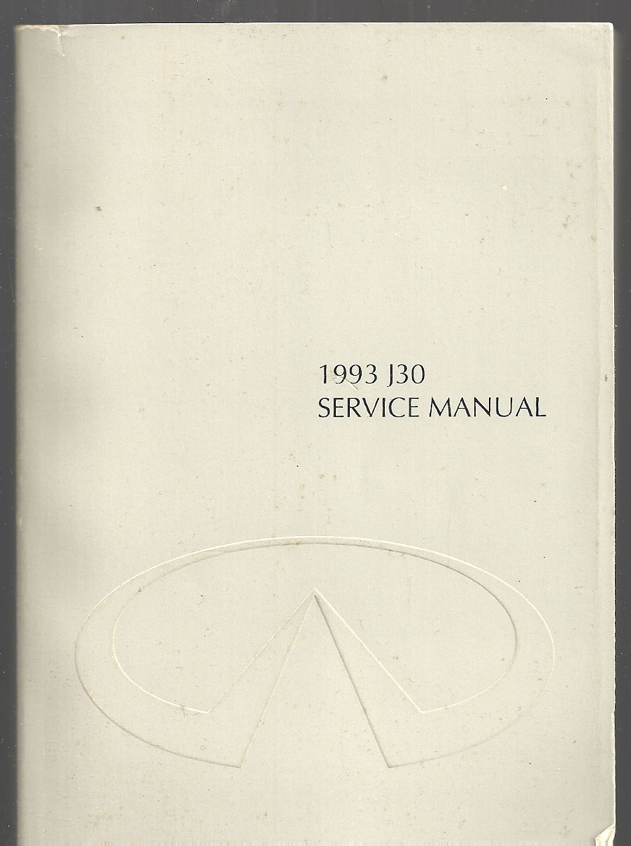 INFINITY 1993 J30 SERVICE MANUAL(model Y32 series), NISSAN MOTORS