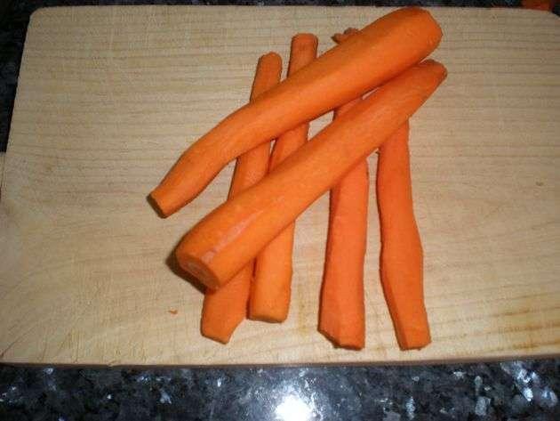 zanahorias - Papas y hortalizas, inmersas en vino blanco
