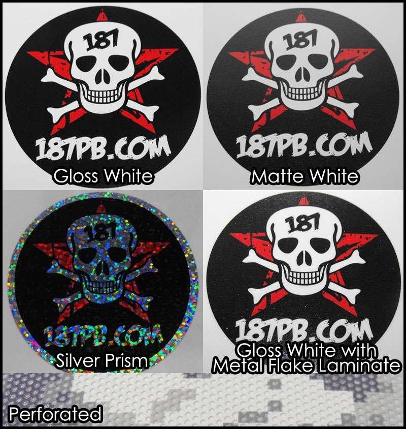 Custom vinyl decals stickers full color printing for Custom vinyl mural prints