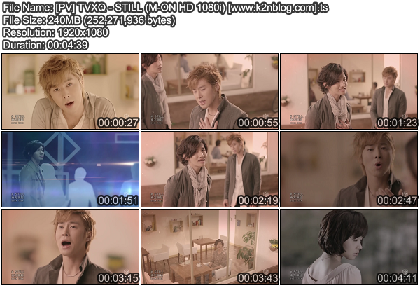 [PV] TVXQ   STILL (M ON HD 1080i)