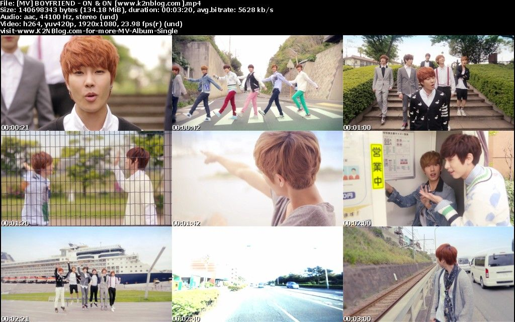 [MV] BOYFRIEND   ON & ON [HD 1080p Youtube]