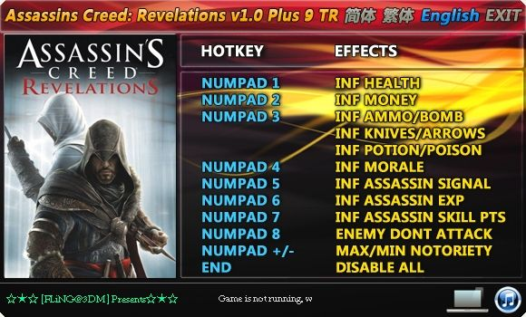 Assassin's Creed: Revelations +9 Trainer [FliNG]
